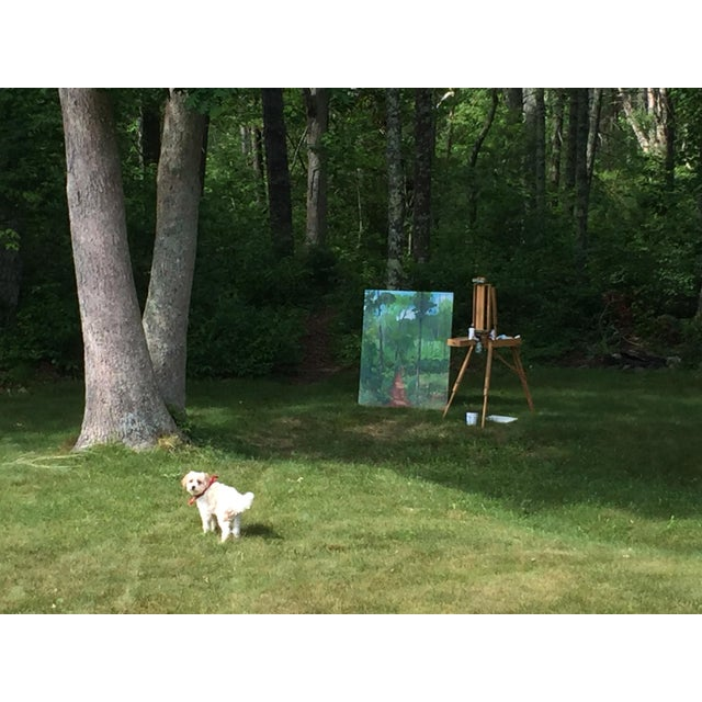 "Contemporary Large Painting ""At the Edge of the Woods"" by Stephen Remick For Sale - Image 3 of 13"