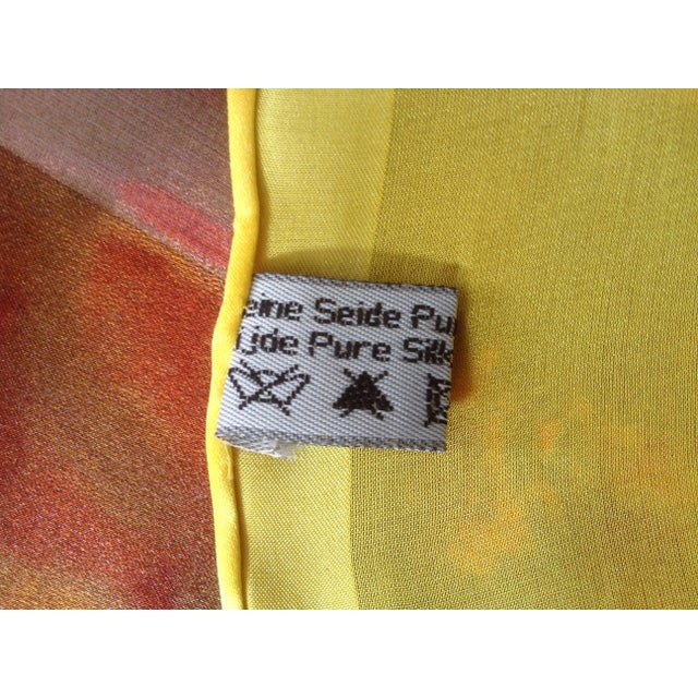Op Art Dominic Pangborn Silk Scarf For Sale - Image 3 of 4