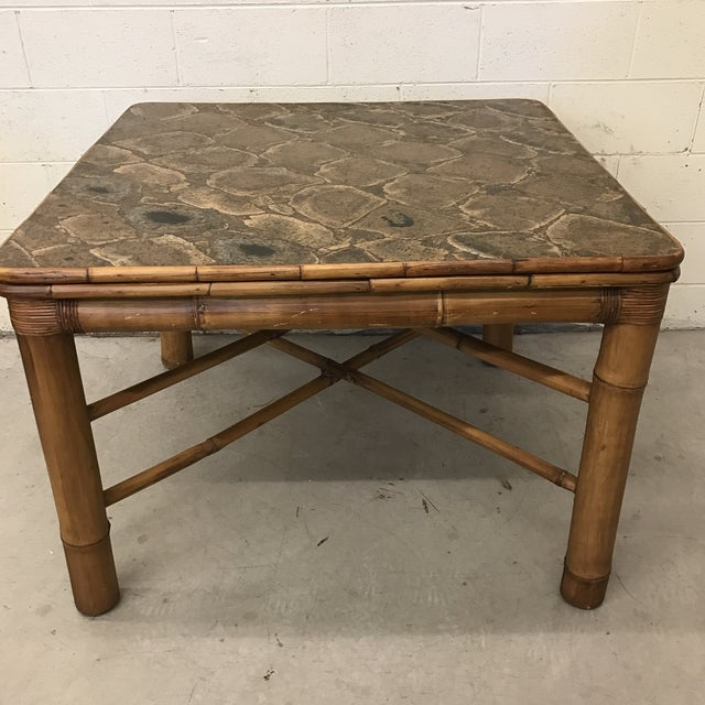 Bamboo Dining Card Table For Sale - Image 5 of 11