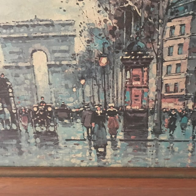 Vintage Antoine Blanchard Parisian Scene For Sale - Image 5 of 9