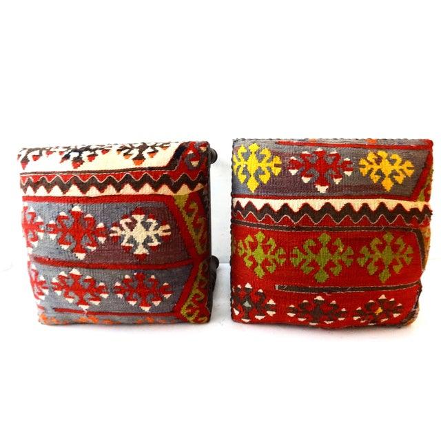 Antique Caucasian Kilim Stools - Pair For Sale In New York - Image 6 of 8