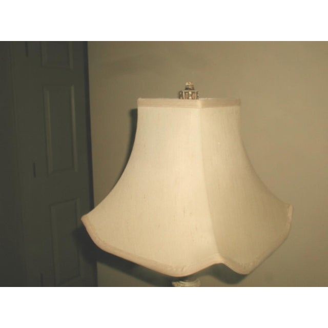 Early 1900's Shabby Chic Metal Marble Rewired Lamp - Image 7 of 8