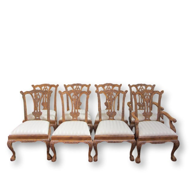 Toscano Chippendale Dining Chairs - Set of 8 - Image 2 of 9