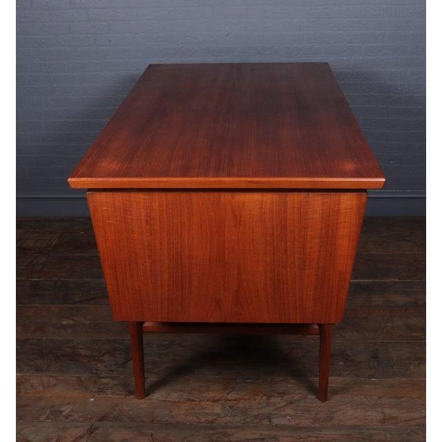 Brown Danish Mid Century Modern Teak Desk For Sale - Image 8 of 13