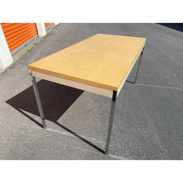 1980s Vintage Steelcase Metal Writing Desk For Sale In San Francisco - Image 6 of 13
