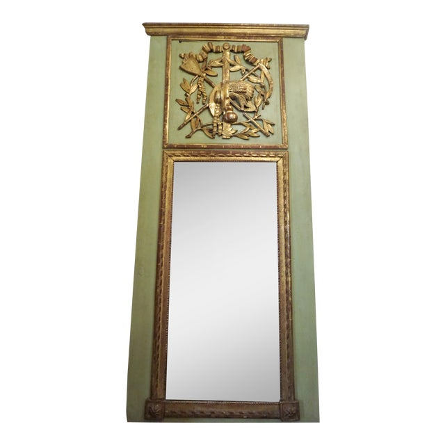 18th Century Louis XVI Trumeau Mirror For Sale