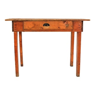 Rustic Pine Farm Table or Writing Desk For Sale
