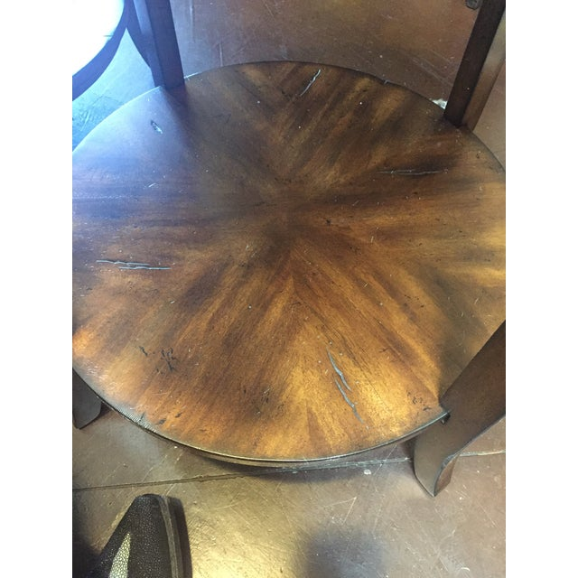 Traditional Style Round Lamp Table For Sale - Image 4 of 6