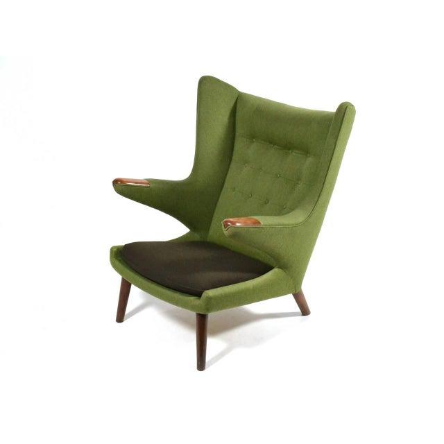 Hans Wegner Papa Bear Chair For Sale - Image 9 of 11