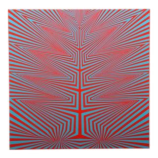 """1960s Roy Ahlgren, """"Genesis Iii"""", Op Art Screenprint For Sale"""