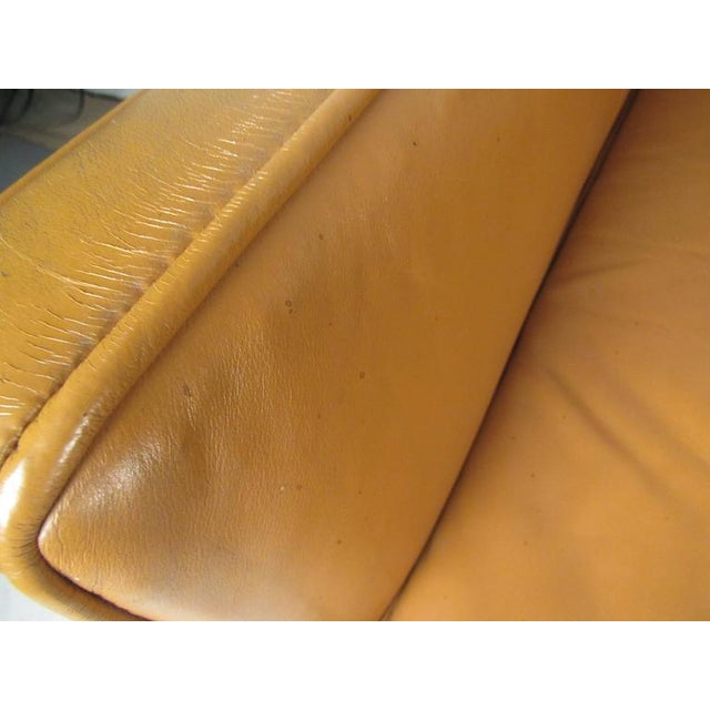 Scandinavian Modern Leather Sofa After Børge Mogensen For Sale In New York - Image 6 of 8