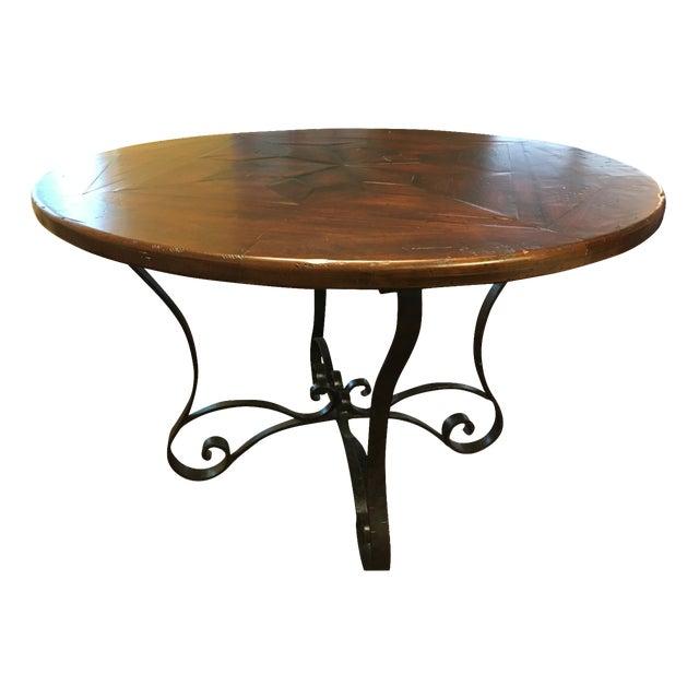 Theodore Alexander Antiqued Wood Breakfast Table - Image 1 of 4