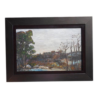 Original Vintage Impressionist Oil/Board-Landscape-Signed-Listed American Artist-Framed For Sale