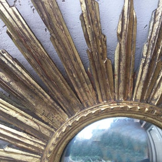 French Convex Sunburst Gilded Wood Mirror Preview