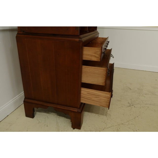 Brown Lane Williamsburg Cherry Bedroom Armoire Cabinet For Sale - Image 8 of 12