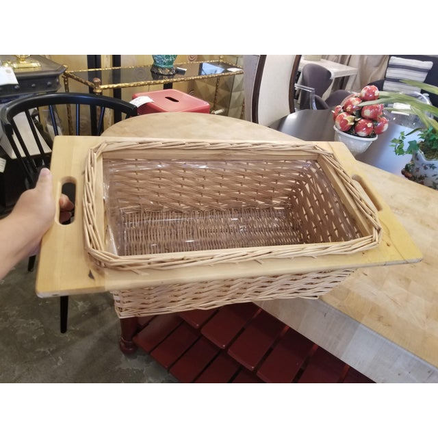 Red John Boos Red Maple Butcher Block Island With 3 Baskets For Sale - Image 8 of 11
