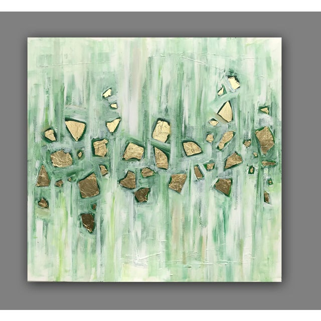 Canvas 'Viridescence' Original Abstract Painting by Linnea Heide For Sale - Image 7 of 10