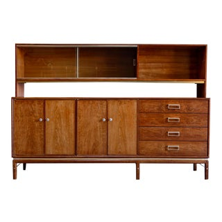 Mid-Century Modern Drexel Suncoast 2-Piece Hutch For Sale