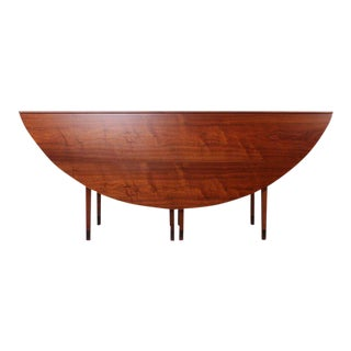 Walnut Drop-Leaf Console Table by Edward Wormley for Dunbar For Sale