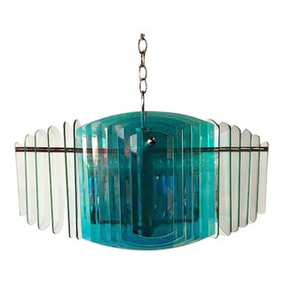 1970s Vintage Dichroic Chandelier For Sale
