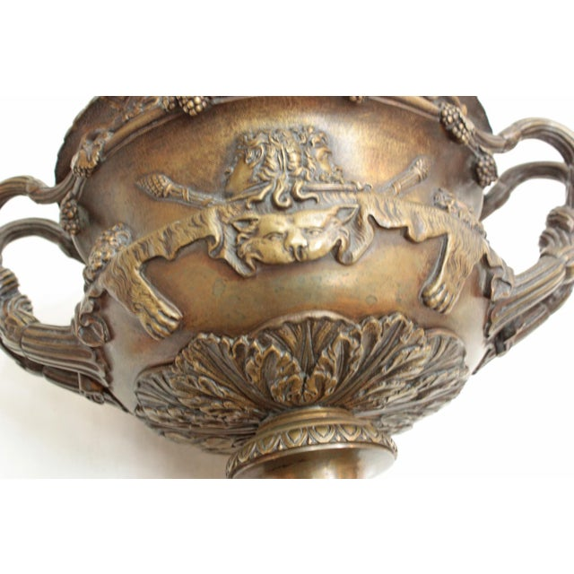Grand Tour Pair of Grand Tour Urns / Warwick Cups For Sale - Image 3 of 7