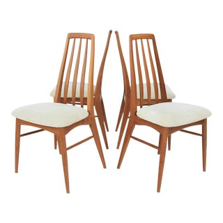 Mid Century Modern Scandinavian Koefoed Hornslet Eva Dining Chairs -Set of 4
