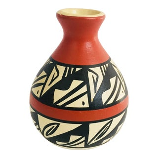 Vintage Navajo Hand Painted Vase For Sale