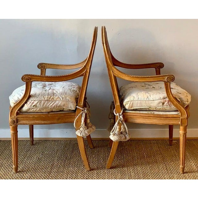 French Pair of 19th Century French Fauteuils For Sale - Image 3 of 10