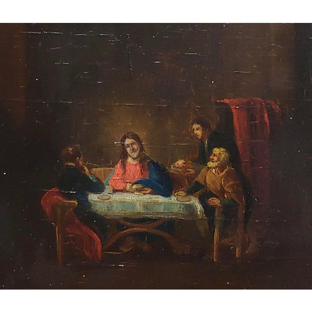 Late 18th Century Supper With Jesus Flemish Oil Painting For Sale - Image 4 of 8