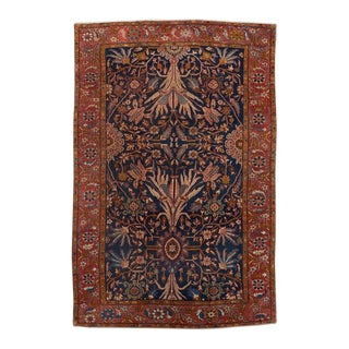 Blue Ground Sultanabad Carpet For Sale