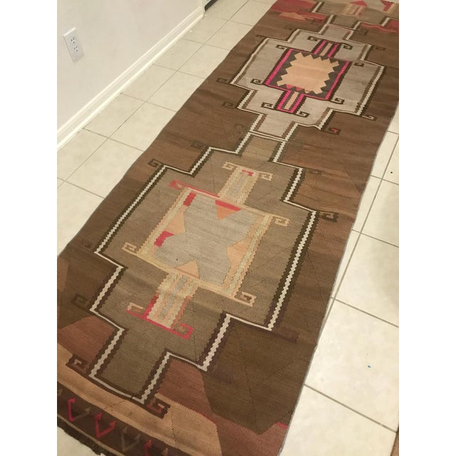 Turkish Turkish Vintage Kars Antique Kilim Rug Runner-3'4x10 For Sale - Image 3 of 6