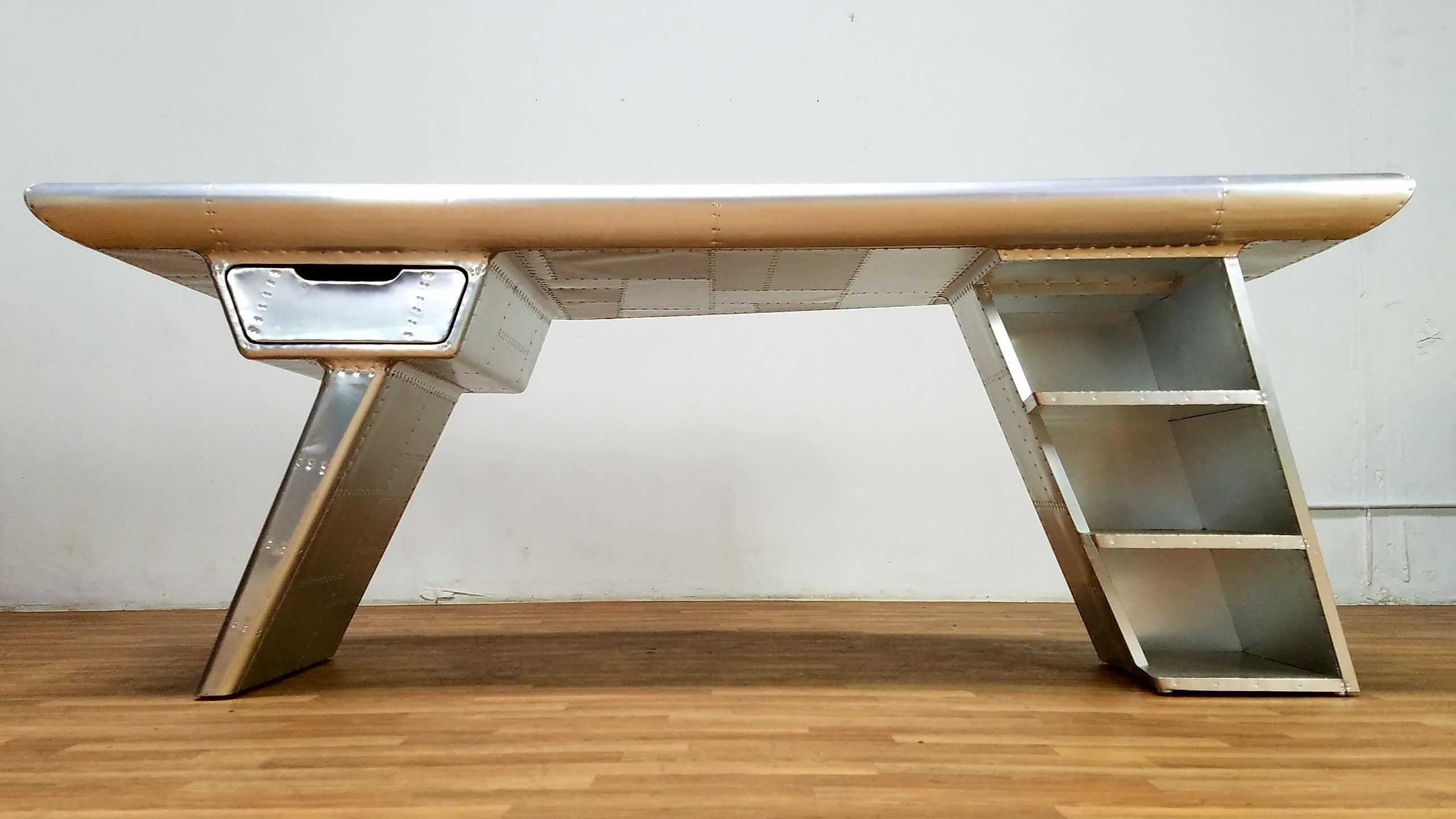 restoration hardware aviator desk. Restoration Hardware Aviator Desk For Sale - Image 12 Of 13 A