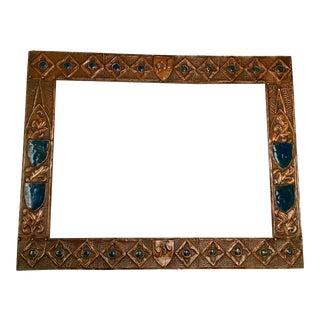 Dated '1935-1936' Folk Art Copper Frame