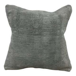 Turkish Organic Gray Hemp Kilim Pillow Cover For Sale