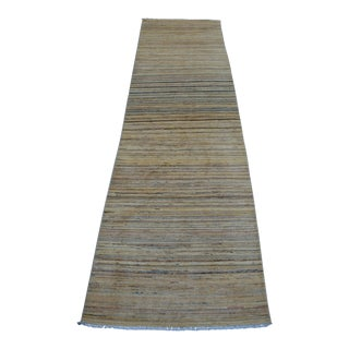 Contemporary Afghan Wool Runner Rug - 2′8″ × 9′8″ For Sale