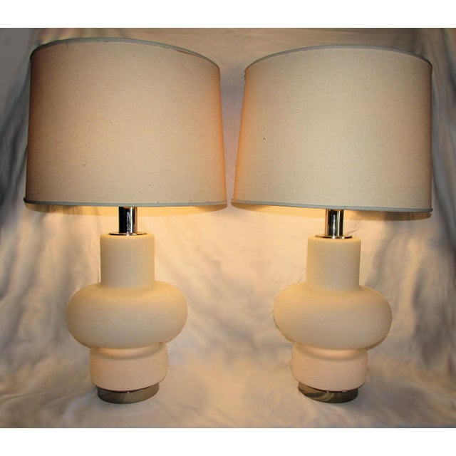 Mid-Century Modern 1970s Mid-Century Modern Bobo Piccoli for Laurel Table Lamps With No Shades- a Pair For Sale - Image 3 of 7