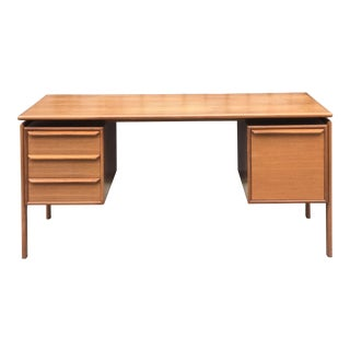 G. V. Gasvig Danish Modern Executive Teak Desk For Sale
