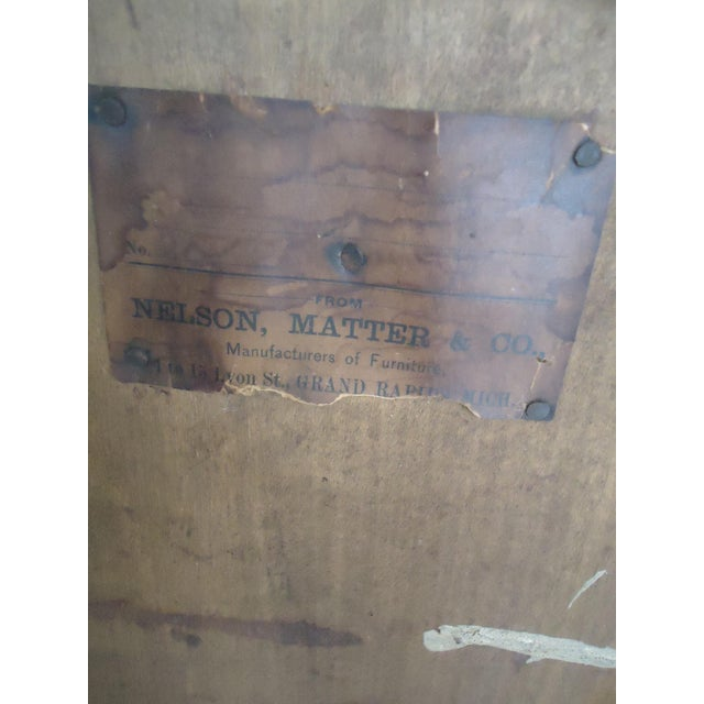 1870- 1893 Antique Nelson Matter & Co. Mahogany Carved Wood File Storage Cabinet For Sale - Image 10 of 11