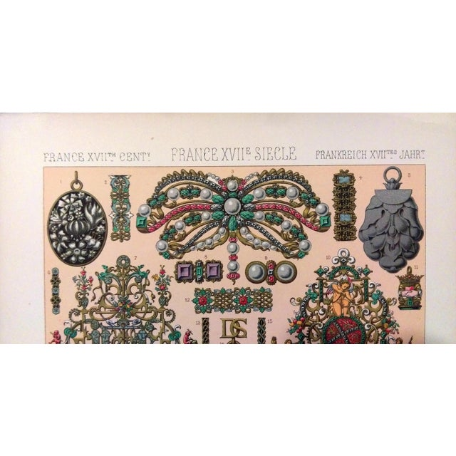 1888 Jewelry of 17th C. France Lithograph - Image 2 of 6
