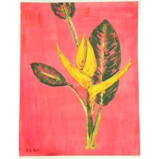 Botanical Tropical Floral Painting by Cleo Plowden For Sale