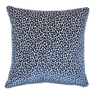 Schumacher X Timothy Corrigan Madeleine Velvet Pillow in Midnight For Sale