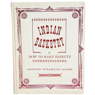 """Indian Basketry"" Illustration Book For Sale"