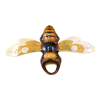 French Majolica Bee Wall Pocket