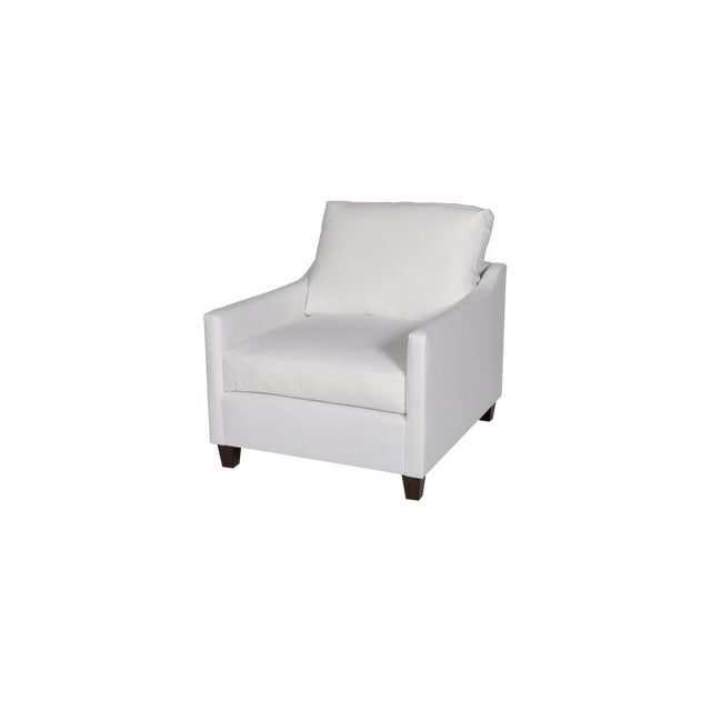 Moss Home Megan Chair Safari Optic White Linen For Sale In Los Angeles - Image 6 of 7