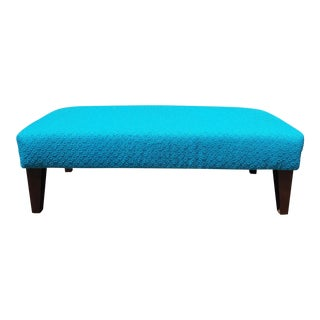 Vintage Turquoise Astrolon Upholstered Bench For Sale