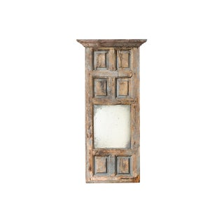 18th Century French Country Paneled Wood Mirror I For Sale