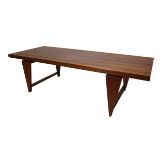 1960s Vintage A. Mikael Laursen for Illum Wikkelso Danish Teak Coffee Table For Sale