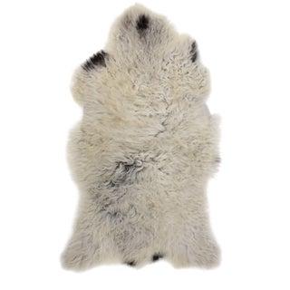 """Contemporary Handmade Long Soft Wool Sheepskin Pelt - 2'0"""" X 3'3"""""""