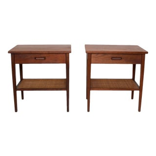 1960s Mid-Century Modern Walnut Nightstands - a Pair For Sale