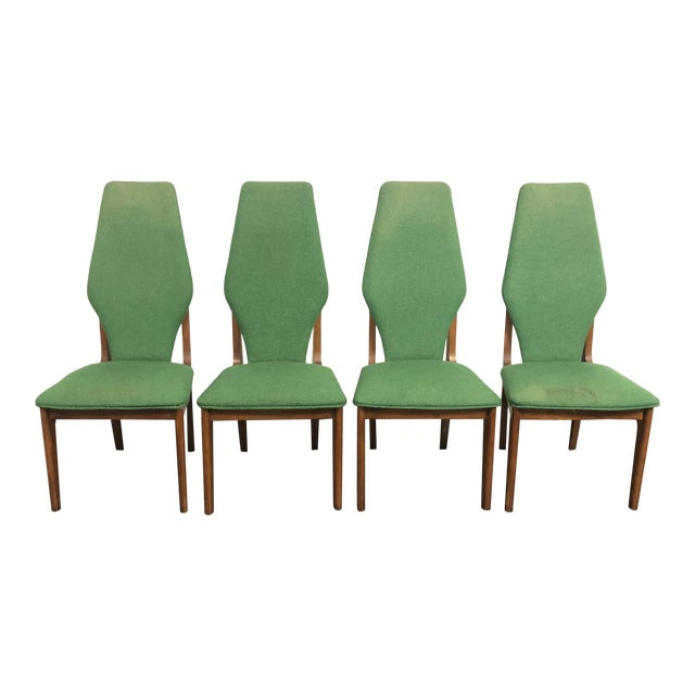 Sculptural High Back Dining Chairs- Set of 4 For Sale